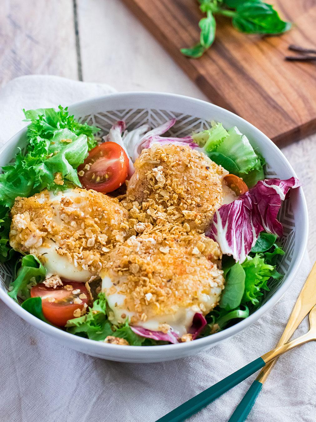recette healthy-cabecou-pane-salade