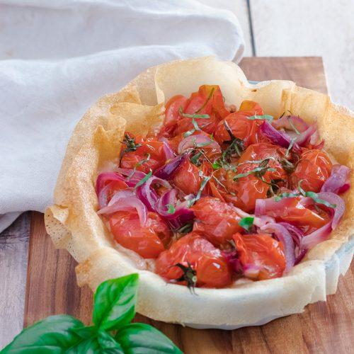 recette healthy-tarte brick-tomate-ricotta