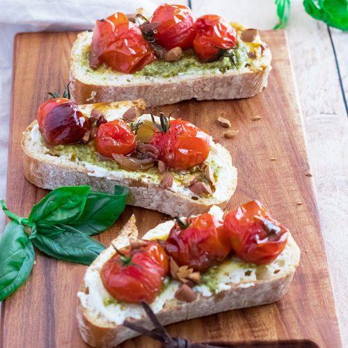 recette healthy-tartine-ricotta-tomate