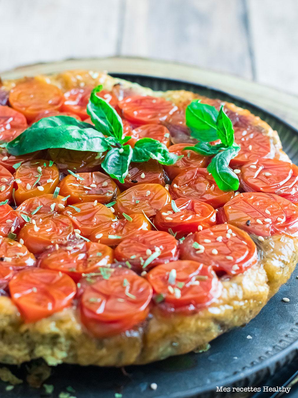 recette healthy-tarte tatin-tomate-oignon