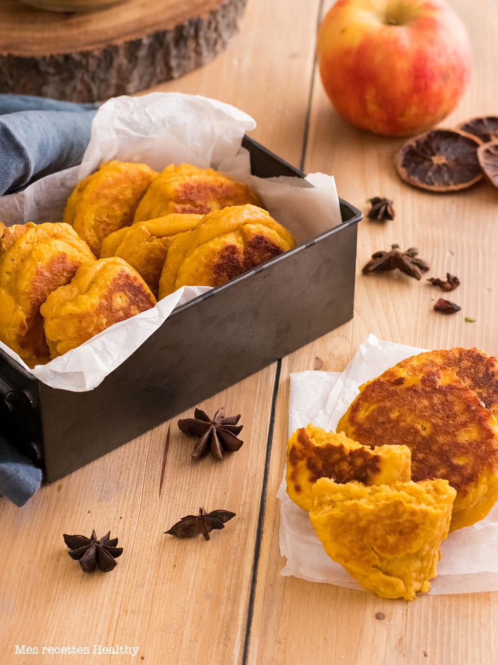 Galette de courge butternut au parmesan-recette healthy