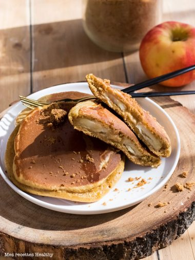 Pancake fourré à la pomme