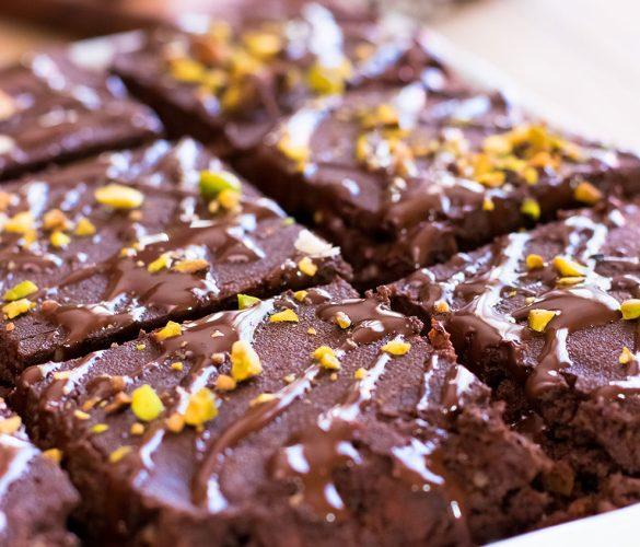Brownie sans gluten aux amandes grillées
